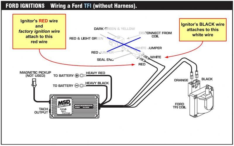 msd 6al wiring diagram ford tfi gallery
