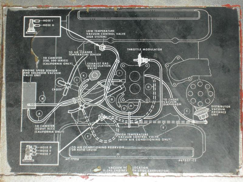 77 SSII 345 V8 Holley 22XX Carb IH PARTS AMERICA – International 345 Engine Diagram